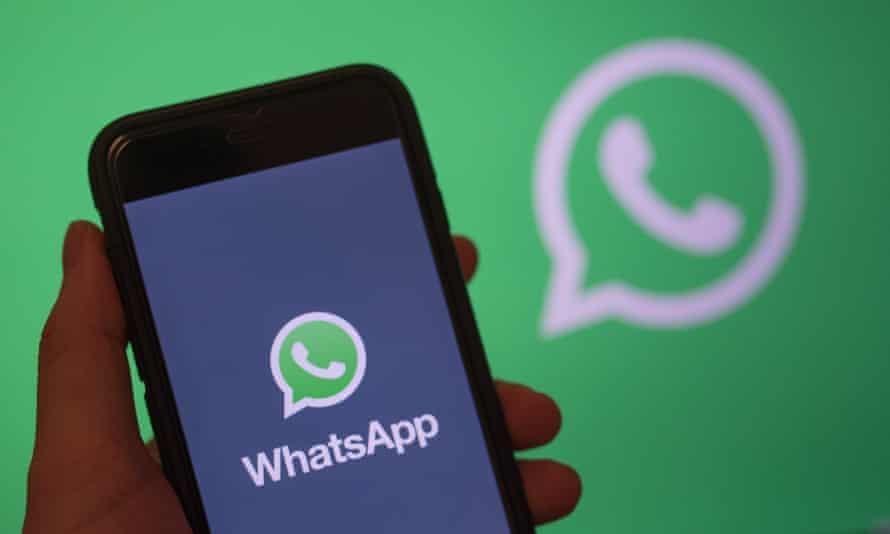 WhatsApp on a mobile phone