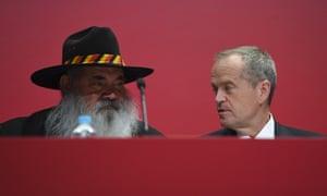 Labor senator Patrick Dodson and Australian opposition leader Bill Shorten