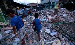At least 77 people were killed when a powerful 7.8-magnitude earthquake struck Ecuador