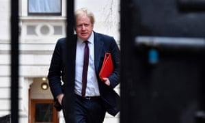 Boris Johnson arriving at Downing Street.