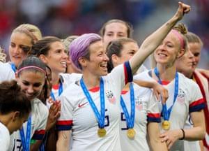 USA women's football team after winning the World Cup.