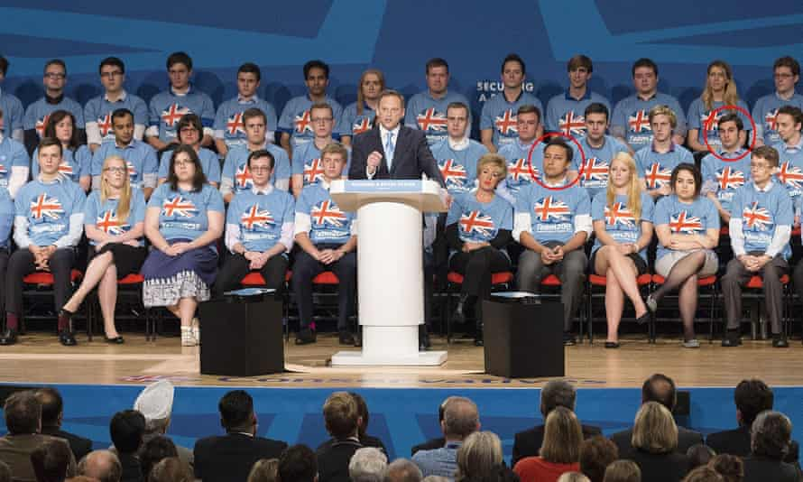 Grant Shapps with Mark Clarke (front row) and Elliott Johnson (2nd row)