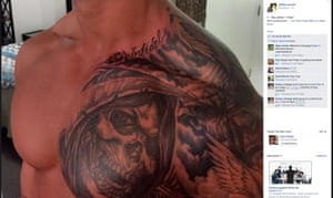 Nauru detention centre guard tattoo