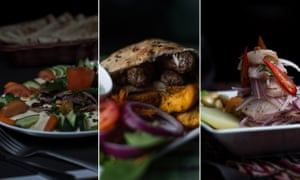 São Paulo's cuisine is among the most diverse in South America, with each wave of immigration adding its own dash of flavour to the city's restaurant scene. Here, from left to right, we have Palestinian shawarma beef, Balkan ćevapi and Peruvian cebiche, all served in São Paulo eateries. Photographs: Victor Moriyama for the Guardian