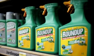 Monsanto's Roundup weedkiller on display at a garden shop at Bonneuil-Sur-Marne near Paris, France.