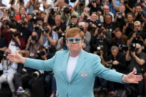 Sir Elton John at the Cannes film festival