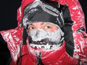 Sue Flood on location in Sanikiluaq for Planet Earth
