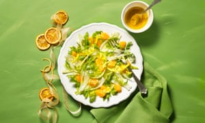 Florence fennel salad with clementines and rocket