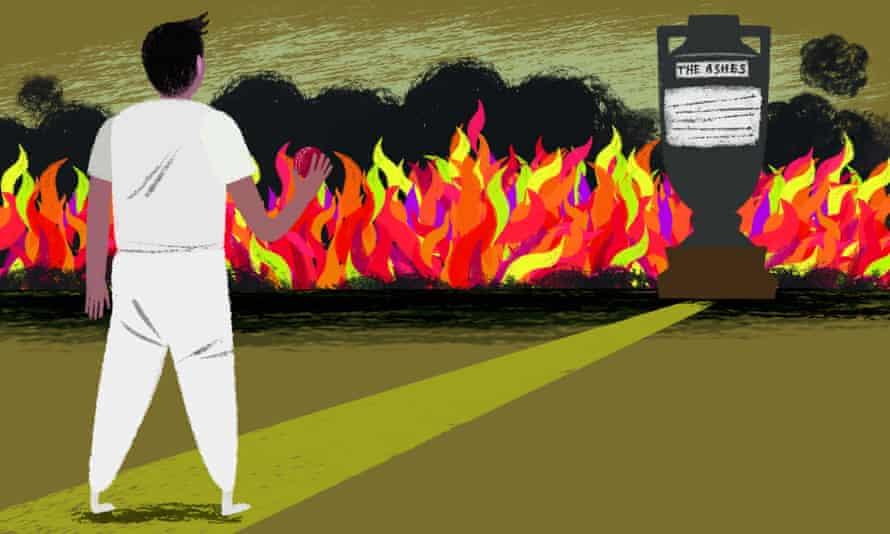 Robin Hursthouse illustration for 2021-22 Ashes in Australia