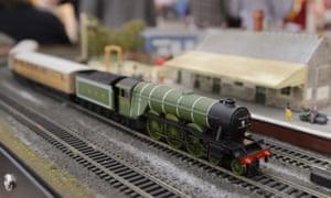 Hornby train at a toy fair in London