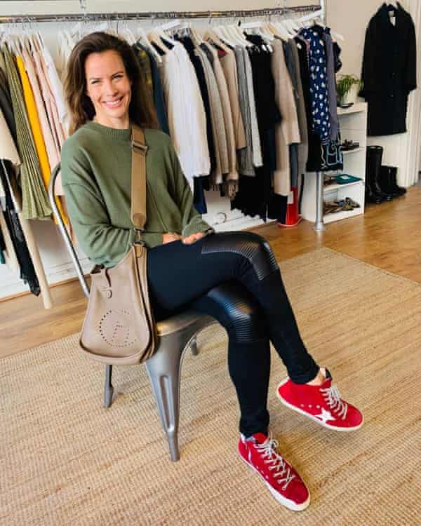 Personal trainer Jen Brown wearing preowned clothes