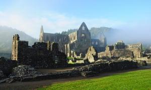Misty morning, Tintern Abbey.