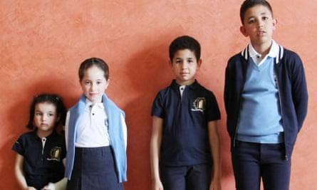 School pupils between the ages of six and 11 were given the choice of wearing the uniform.