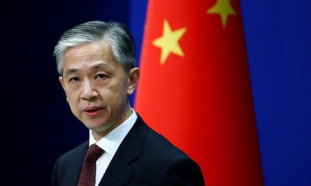 Chinese foreign ministry spokesman Wang Wenbin announced the treaties' suspension on 28 July.