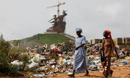 The construction of the African Renaissance monument in Dakar by North Korea's Mansudae studio.