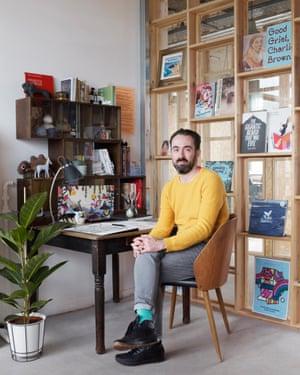 Benji Davies in his studio