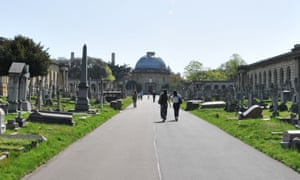 Brompton cemetery in Fulham, west London.