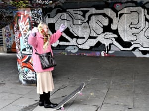 woman in skate park