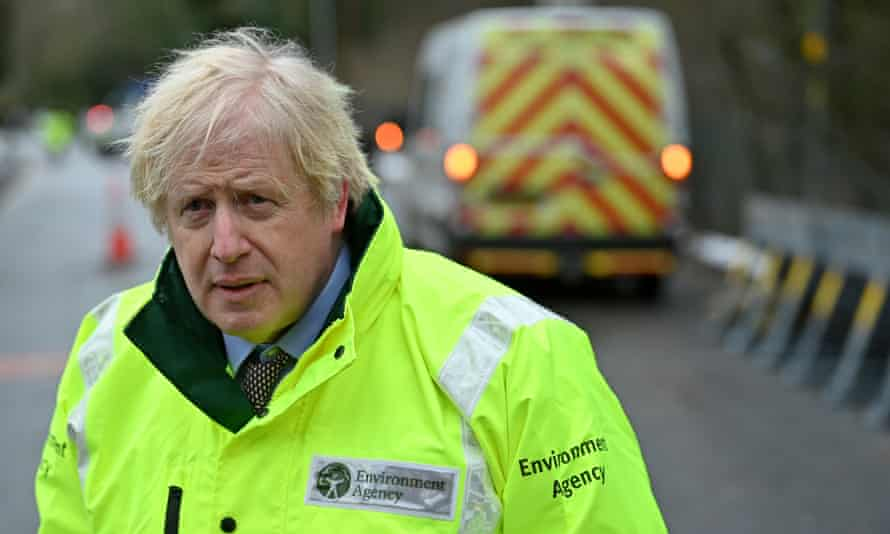 Boris Johnson in flood-hit Didsbury