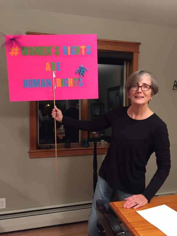 Kay Bush, 65, marched in Palmer, Alaska.