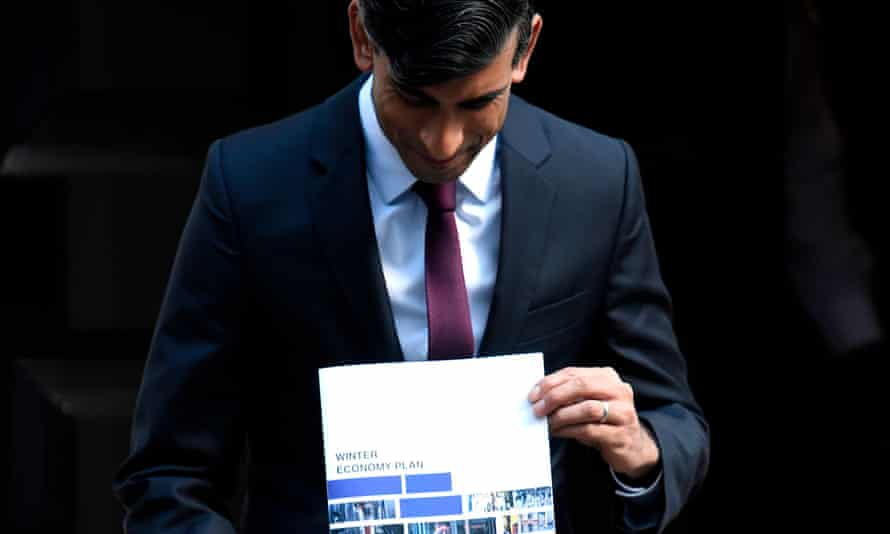 Rishi Sunak poses with his winter economy plan in September