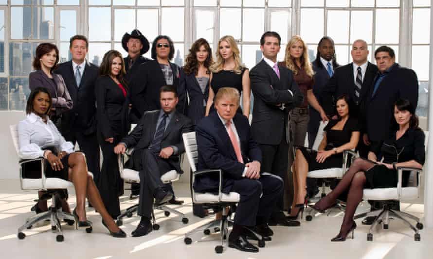Politically toxic … Donald Trump and celebrity Apprentice competitors.