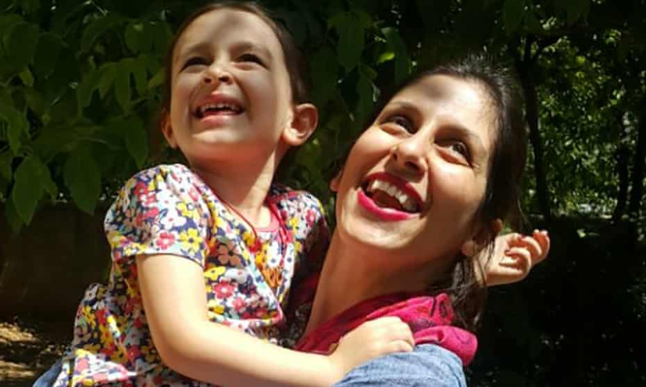 Nazanin Zaghari-Ratcliffe spends time with her daughter, Gabriella, after she was briefly freed from prison.