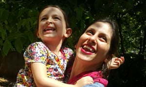 Nazanin Zaghari-Ratcliffe with daughter Gabriella. Theresa May has pressed Iran's president over her detention.
