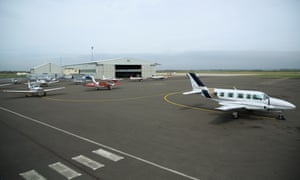 Lydd airport in Kent, from where passengers can fly to French destinations including Le Touquet.