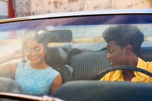 Matt Henry photograph of black couple in car