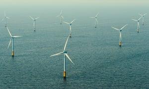 A windfarm near IJmuiden in the Netherlands
