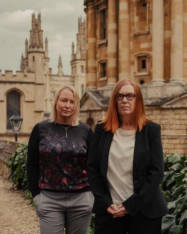 Oxford vaccine scientists Catherine Green, left, and Sarah Gilbert.