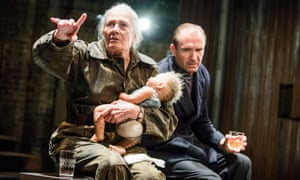 Vanessa Redgrave as Queen Margaret and Ralph Fiennes as the king in Richard lll) in Richard lll by William Shakespeare @ Almeida Theatre. Directed by Rupert Goold. (Opening 16-06-16) ©Tristram Kenton 06/16 (3 Raveley Street, LONDON NW5 2HX TEL 0207 267 5550 Mob 07973 617 355)email: tristram@tristramkenton.com