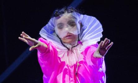 'Future-facing' … Björk at the Fuji Rock festival last month.