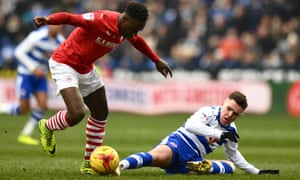 Andy Yiadom, left, was in fine form for Barnsley on Saturday despite returning to training after the Africa Cup of Nations only two days earlier.