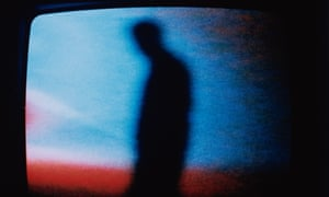 Silhouette on screen