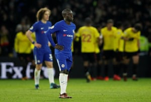 Disappointment for Kante and Luiz.