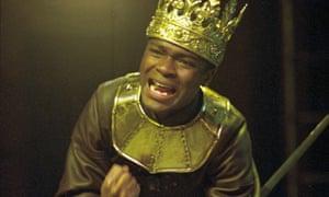 David Oyelowo as Henry VI at the Royal Shakespeare Company in 2001