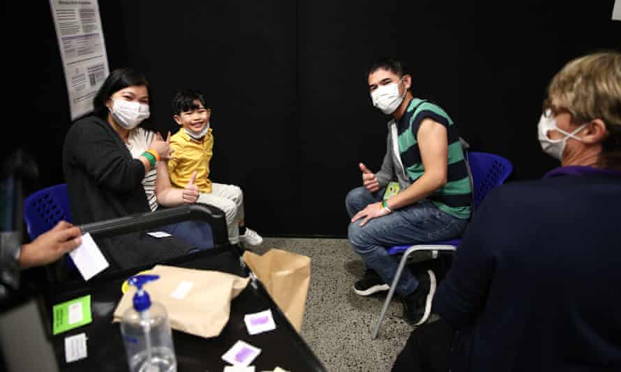 Patients at New Zealand's first mass Covid-19 vaccination event in Auckland