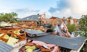 Property damage from cyclone Seroja in Kalbarri, Western Australia