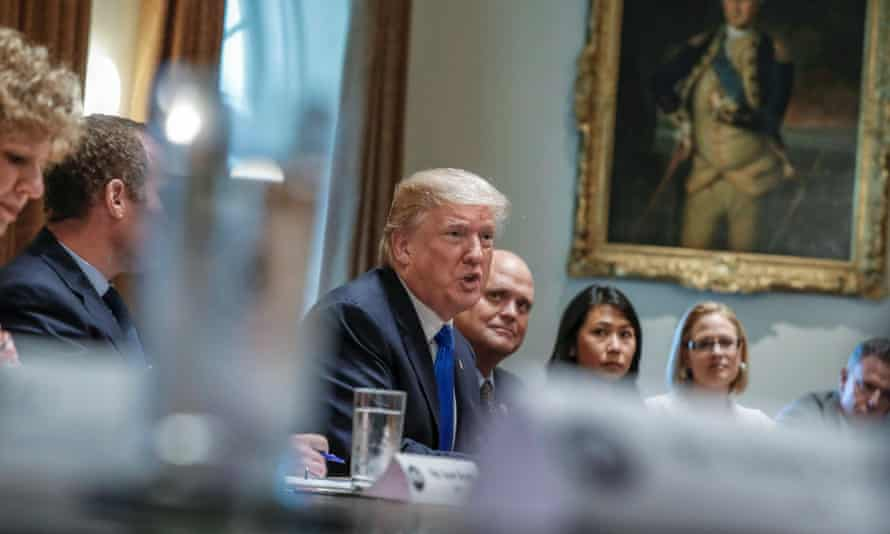 Donald Trump meets with a bipartisan group of Congress to discuss tax reform on 13 September.
