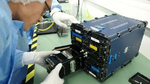 Nanosatel is installed