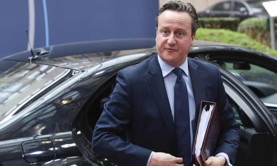David Cameron arrives for a European summit in Brussels.