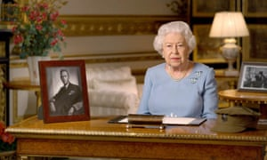The Queen makes her VE Day address from Windsor Castle.