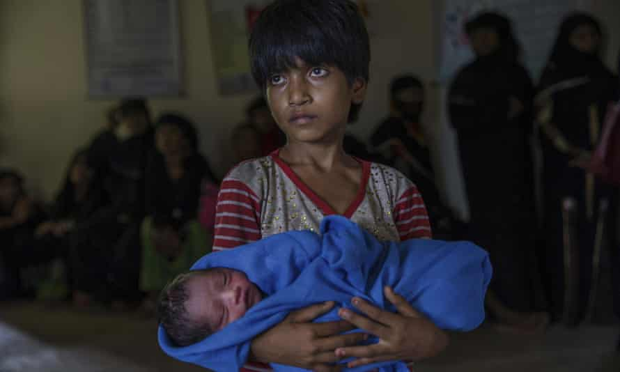 About 80% of those fleeing are women and children – and there are babies being born along the way.