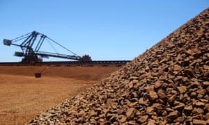 Stockpiles of iron ore in Western Australia's Pilbara region. CommSec's Savanth Sebastian says long term themes are around the slowdown in China and volatility in US markets.