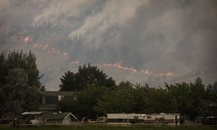 Snowy Mountain wildfire in Canada, August 2018.