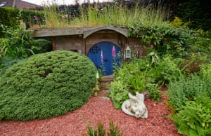 Nature's haven category, Chris Hield (Derbyshire) with Bux EndVisually beautiful and complete with a log burner and armchair, this shed is used as a workshop to make armour and chain-mail. Hield created a sunken hobbit hole with circular door, using reclaimed bricks and timber to build the shed at evenings and weekends