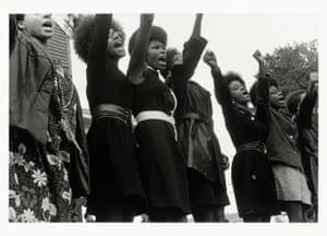 Black Panthers from Sacramento at a Free Huey Rally in Oakland, 1968.