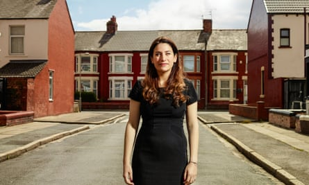 Luciana Berger on a street in Liverpool